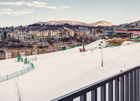 Winter view at Bear Claw Condominiums.