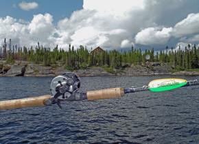 Fishing at Milton Lake Lodge Saskatchewan.