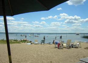Swimming beach at Sullivans Resort.