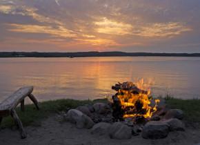 Campfire at Madden's on Gull Lake.