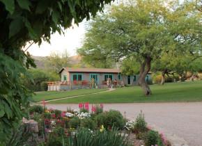 Cabin at Circle Z Ranch.