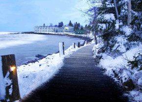 Walking trail at Bluefin Bay on Lake Superior.