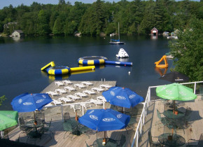 Water toys at Rocky Crest Golf Resort.