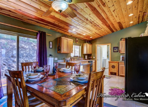 Dining Room/Kitchen in Hummingbird Cabis - Bear Crossing Vacation Rental