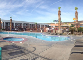Outdoor pool at St. George Inn & Suites.