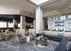 Lobby at South Shore Harbour Resort & Conference Center.