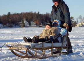 Sledding at Cragun's Resort.