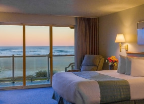 Guest room at Driftwood Shores Resort and Conference Center.