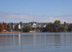 Autumn view of The Osthoff Resort.