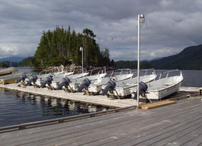 Boats at Black Gold Lodge