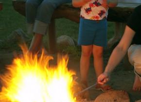 Bonfire at Madden's on Gull Lake