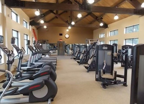 Fitness center at Fairway Suites.