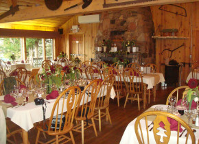Dining at Gunflint Lodge.