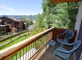Rental deck view at Steamboat Lodging Properties.