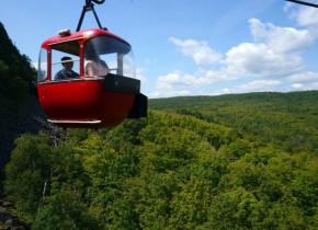Gondola ride at Eagle Ridge at Lutsen Mountains.