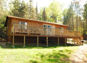 Exterior of cabin at Tamarack Resort.