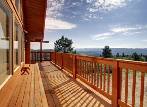 Rental porch at Family Time Vacation Rentals.