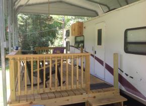 Camper exterior at Berry Creek, LLC - Tailgate Camper.