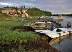 Exterior view of Alaska Trophy Adventures Lodge.