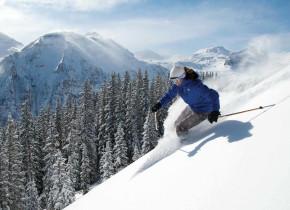 Skiing near Chipeta Solar Springs Resort.