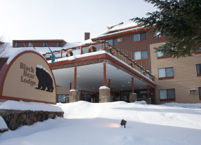 Exterior view of Black Bear Lodge.