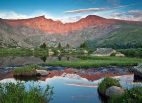 Beautiful mountain view at Tumbling River Ranch.