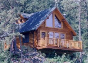 Cabin exterior at Newton Fork Ranch.