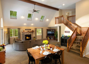 Accommodation choices at Woodloch Resort