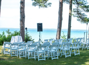 Outdoor Wedding Venue at Beaver Island Lodge