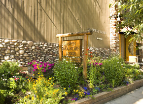 Spring time exterior at Aspen Mountain Lodge.