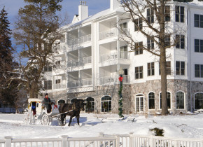 Winter exterior at The Osthoff Resort.