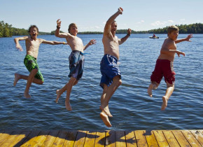 Water fun at Severn Lodge.