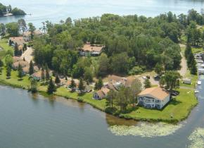Resort view at Madden's on Gull Lake.