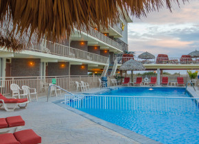 Outdoor pool at Waikiki Oceanfront Inn.