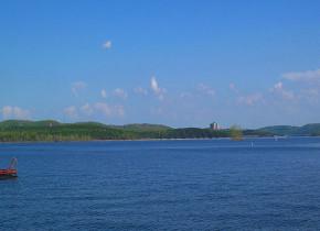 View of lake at Tribesman Resort.