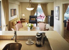 Guest suite at Fairmont Tremblant Resort.