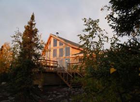 Exterior view of Milton Lake Lodge Saskatchewan.