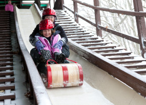 Sledding at Skytop Lodge.