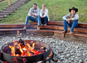Bonfire at Goosewing Ranch.