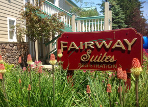 Exterior view of Fairway Suites.