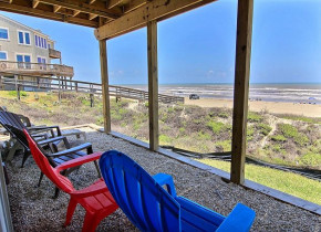 Rental porch at Port Aransas Escapes.