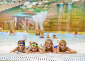 Kids at water park at Chula Vista Resort.