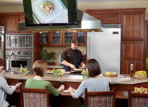 Cooking demonstrations at The Lodge at Woodloch.