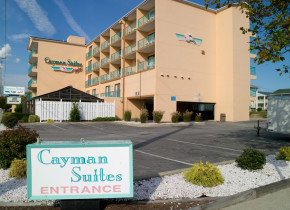 Exterior view of Cayman Suites Hotel.