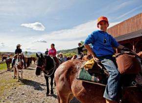 Horseback riding at Goosewing Ranch.