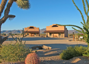 Exterior view of Stagecoach Trails Guest Ranch.