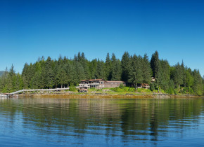 Exterior view of Yes Bay Lodge.