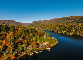 Aerial view of Lake Country Vacation Rentals.
