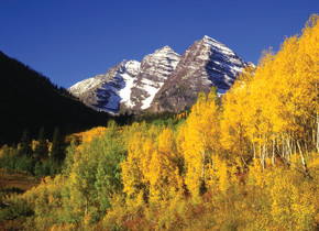 Fall time in the mountains at Aspen Mountain Lodge.
