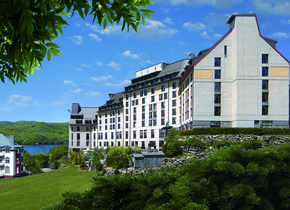Exterior view of Fairmont Tremblant Resort.